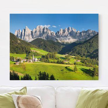 Leinwandbild - Geislerspitzen in Südtirol - Quer 4:3