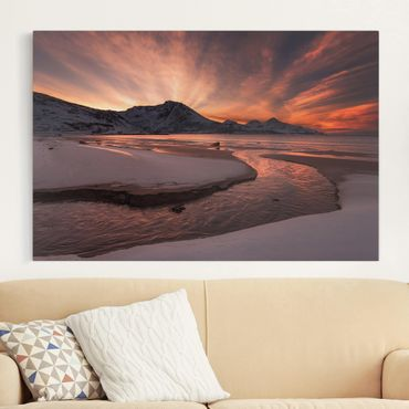 Leinwandbild - Goldener Sonnenuntergang - Quer 3:2