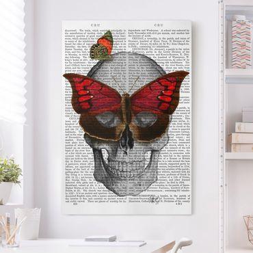Leinwandbild - Grusellektüre - Schmetterlingsmaske - Hochformat 3:2