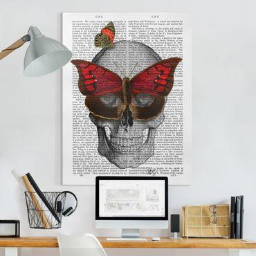 Leinwandbild - Grusellektüre - Schmetterlingsmaske - Hochformat 4:3