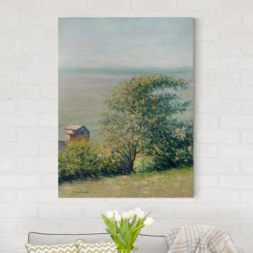 Leinwandbild - Gustave Caillebotte - Am Meer bei Villerville - Hoch 3:4
