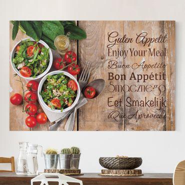 Leinwandbild - Guten Appetit - Quer 3:2