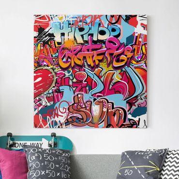 Leinwandbild - HipHop Graffiti - Quadrat 1:1