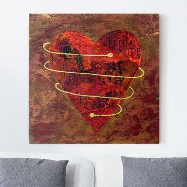 Leinwandbild - I got your heart - Quadrat 1:1