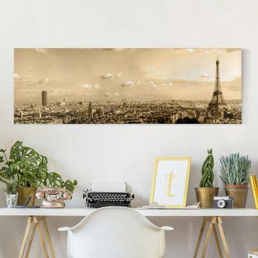Leinwandbild - I Love Paris - Panorama Quer