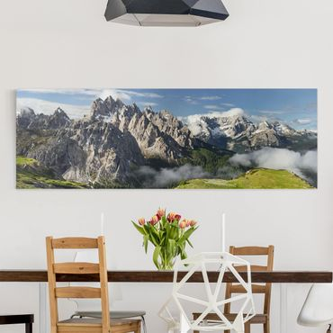 Leinwandbild - Italienische Alpen - Panorama 1:3