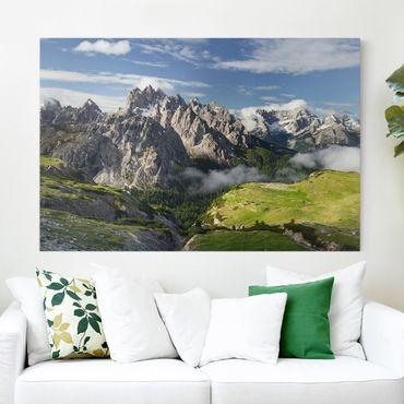 Leinwandbild - Italiensche Alpen - Quer 3:2