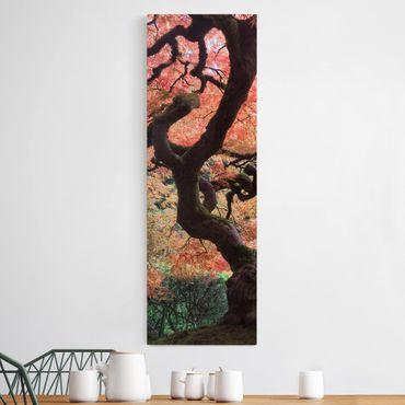 Leinwandbild - Japanischer Garten - Panorama Hoch