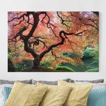 Leinwandbild - Japanischer Garten - Quer 3:2