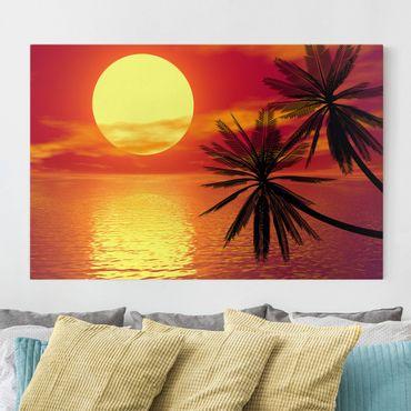 Leinwandbild - Karibischer Sonnenuntergang - Quer 3:2