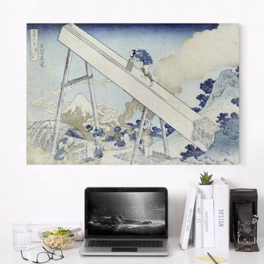 Leinwandbild - Katsushika Hokusai - In den Totomi Bergen, aus der Serie '36 Ansichten des Berges Fuji' - Quer 3:2