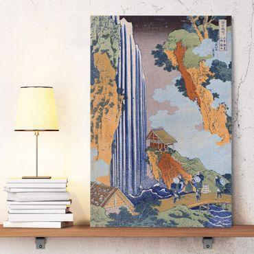 Leinwandbild - Katsushika Hokusai - Ono Wasserfall - Hoch 2:3