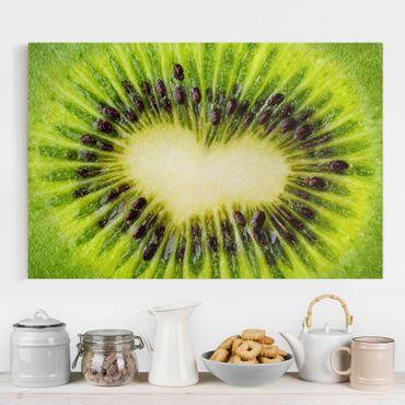 Leinwandbild - Kiwi Heart - Quer 3:2