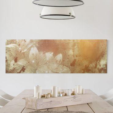 Leinwandbild Lilith - Panoramabild Quer, Beige, Braun, Sepia