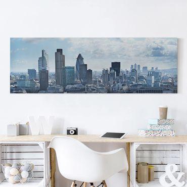 Leinwandbild - London Skyline - Panorama Quer