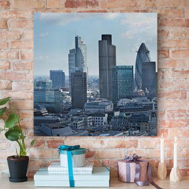 Leinwandbild - London Skyline - Quadrat 1:1