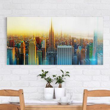 Leinwandbild - Manhattan Abstrakt - Quer 2:1