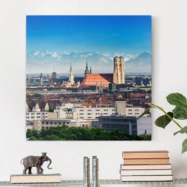 Leinwandbild - München - Quadrat 1:1