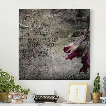 Leinwandbild - Mystic Flower - Quadrat 1:1