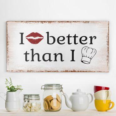 Leinwandbild - No.KA29 I Kiss Better - Quer 2:1