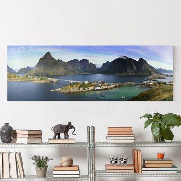 Leinwandbild - Nordisches Paradies - Panorama Quer