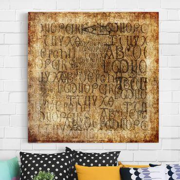 Leinwandbild - Old Letters - Quadrat 1:1