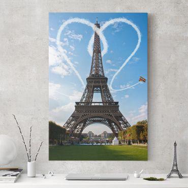 Leinwandbild - Paris - City of Love - Hoch 2:3