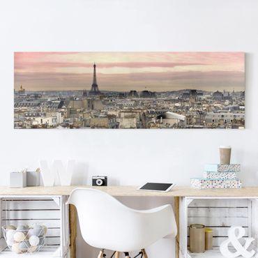 Leinwandbild - Paris hautnah - Panorama Quer