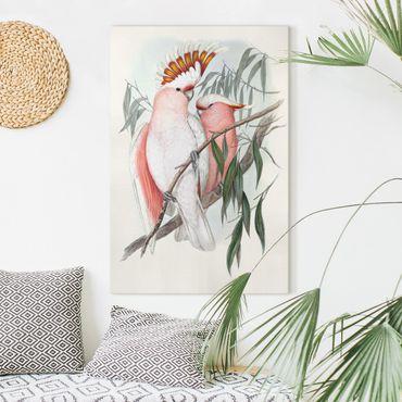 Leinwandbild - Pastell Papageien I - Hochformat 3:2