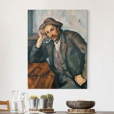 Leinwandbild - Paul Cézanne - Der Raucher mit aufgestütztem Arm - Hoch 3:4
