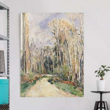 Leinwandbild - Paul Cézanne - Weg am Waldeingang - Hoch 3:4