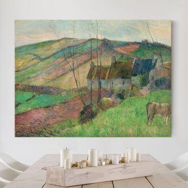 Leinwandbild - Paul Gauguin - Bauernhäuser am Fuß des Mont Sainte-Marguerite - Quer 4:3