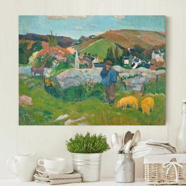 Leinwandbild - Paul Gauguin - Der Schweinehirt - Quer 4:3