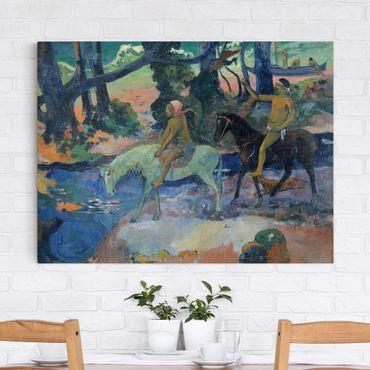Leinwandbild - Paul Gauguin - Die Furt (oder: Die Flucht) - Quer 4:3