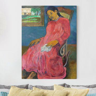 Leinwandbild - Paul Gauguin - Melancholikerin - Hoch 3:4