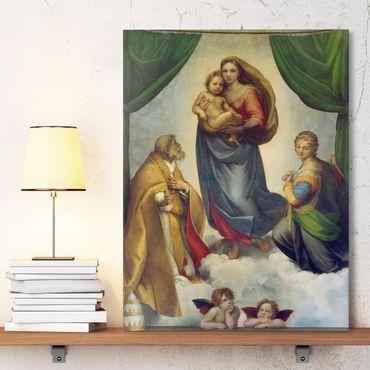 Leinwandbild - Raffael - Die Sixtinische Madonna - Hoch 3:4