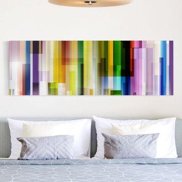 Leinwandbild - Rainbow Cubes - Panorama Quer