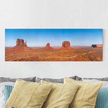 Leinwandbild - Rambling Colorado Plateau - Panorama Quer
