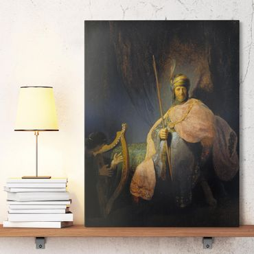 Leinwandbild - Rembrandt van Rijn - David spielt die Harfe vor Saul - Hoch 3:4