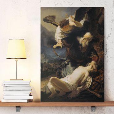 Leinwandbild - Rembrandt van Rijn - Die Opferung Isaaks - Hoch 2:3