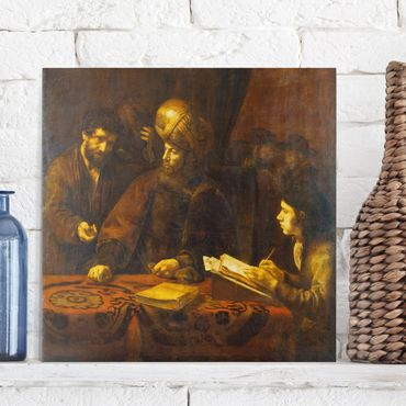 Leinwandbild - Rembrandt van Rijn - Gleichnis von den Arbeitern im Weinberg - Quadrat 1:1