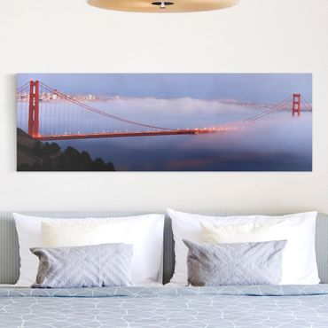 Leinwandbild - San Franciscos Golden Gate Bridge - Panorama Quer