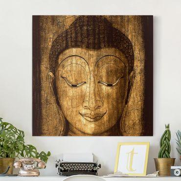 Leinwandbild - Smiling Buddha - Quadrat 1:1