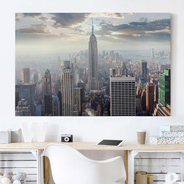 Leinwandbild - Sonnenaufgang in New York - Quer 3:2