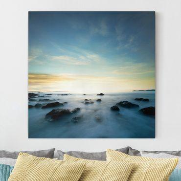 Leinwandbild - Sonnenuntergang über dem Ozean - Quadrat 1:1