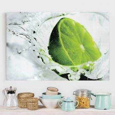 Leinwandbild - Splash Lime - Quer 3:2
