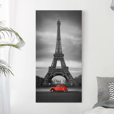 Leinwandbild Schwarz-Weiß - Spot on Paris - Hoch 1:2