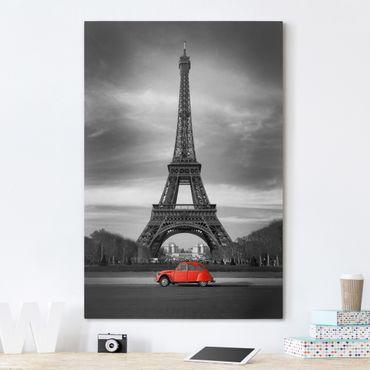Leinwandbild Schwarz-Weiß - Spot on Paris - Hoch 2:3