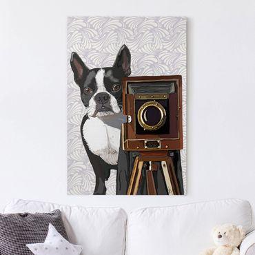 Leinwandbild - Tierfotograf Terrier - Hochformat 3:2