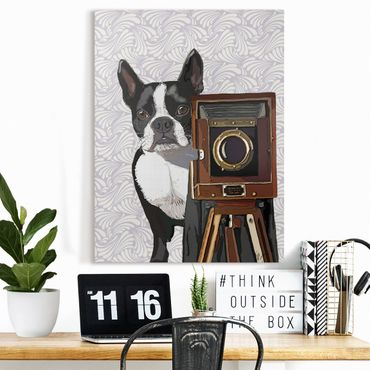 Leinwandbild - Tierfotograf Terrier - Hochformat 4:3